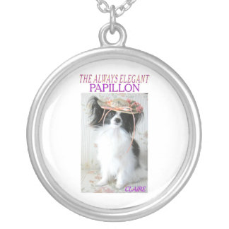 THE ALWAYS ELEGANT PAPILLON SILVER PLATED NECKLACE