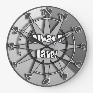 """""""The Always Late""""  Crazy Mixed Up Clock #5"""