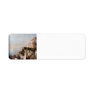 The Amalfi Coast by Franz Richard Unterberger Custom Return Address Labels