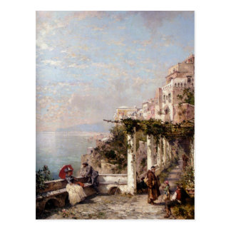 The Amalfi Coast by Franz Richard Unterberger Postcard