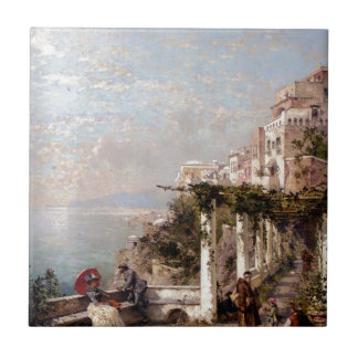 The Amalfi Coast by Franz Richard Unterberger Tile
