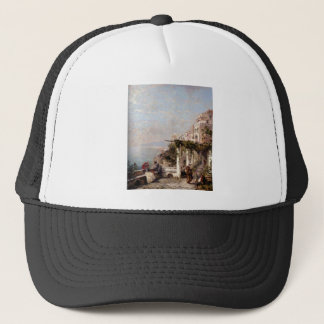 The Amalfi Coast by Franz Richard Unterberger Trucker Hat