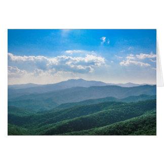 The Amazing Blue-Ridge Greeting Card