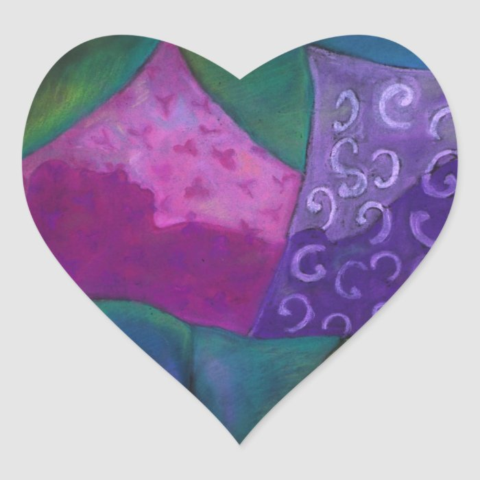 The Amazing Hideaway - Purple and Magenta Heaven Heart Sticker
