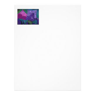 The Amazing Hideaway - Purple and Magenta Heaven Letterhead