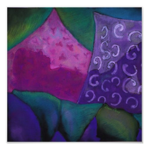 The Amazing Hideaway - Purple and Magenta Heaven Poster