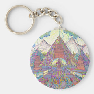 The Amazing Pyramid MazeScape Keychain