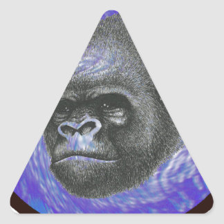 THE AMAZING SILVERBACK TRIANGLE STICKERS