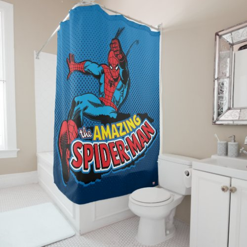 The Amazing Spider-Man Logo Shower Curtain