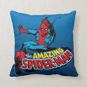 The Amazing Spider-Man Logo Throw Pillow