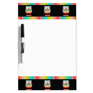 The Amazing Striped Amazeballs Owl Dry-Erase Board