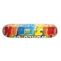 The Amazing World of Bitcoin Skateboard Deck