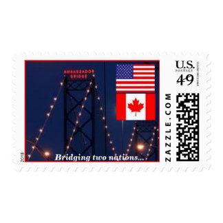 The Ambassador Bridge, Bridging Two Nations Stamps