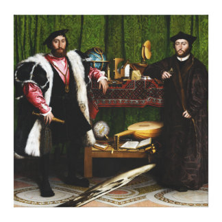 The Ambassadors by Hans Holbein the Younger Canvas Print