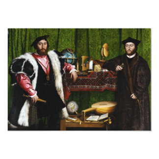 The Ambassadors by Hans Holbein the Younger Card