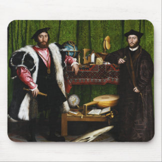 The Ambassadors by Hans Holbein the Younger Mouse Pad