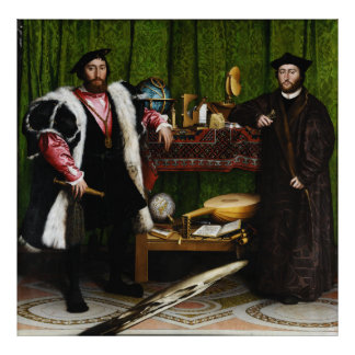 The Ambassadors by Hans Holbein the Younger Poster
