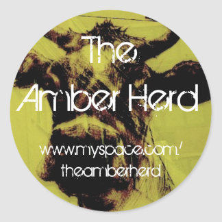 The Amber Herd - Cow badge Classic Round Sticker