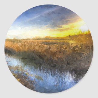 The Ambling River Art Classic Round Sticker