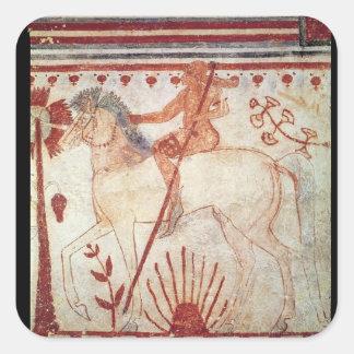The Ambush of the Trojan Prince Troilus Square Sticker