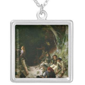 The Ambush Square Pendant Necklace