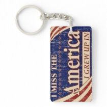 The America I Grew Up In Keychain