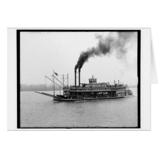 The America, Mississippi river boat, Miss. c1905 Card