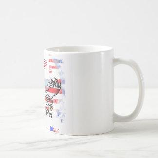 The American bald Eagle, the Flag and the Map. Coffee Mug