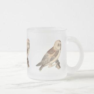 The American Barn Owl(Strix pratincola)1 Frosted Glass Coffee Mug