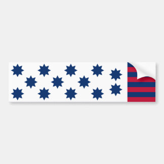 The American Battle of Guilford Courthouse Flag Bumper Sticker