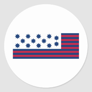 The American Battle of Guilford Courthouse Flag Classic Round Sticker