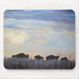 The American Bison - Acrylic Painting Mouse Pad