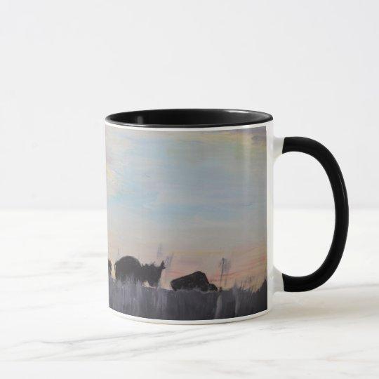 The American Bison - Acrylic Painting Mug