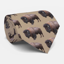 The American bison Neck Tie