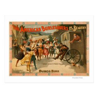 The American Burlesquers 15 Beauties Play Postcard