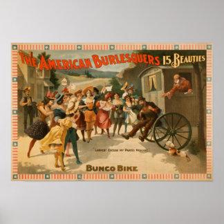The American Burlesquers 15 Beauties Play Print