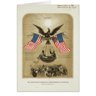 The American Declaration of Independence 1861 Card