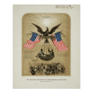 The American Declaration of Independence 1861 Poster