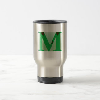 "The American English Letter ""M"" Travel Mug"