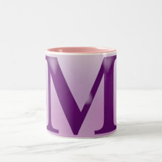 "The American English Letter ""M"" Two-Tone Coffee Mug"
