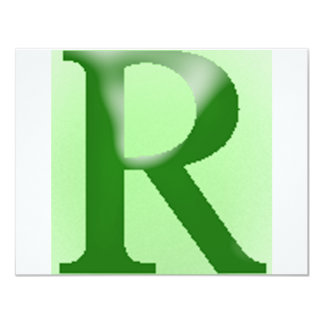 "The American English Letter ""r"" Card"