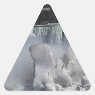 The American Falls at Niagara Falls 20140406IMG_65 Triangle Sticker