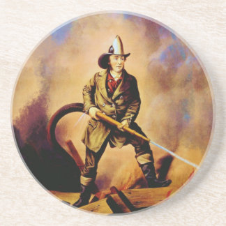 The American Firefighter Vintage Fireman Style 1 Coasters