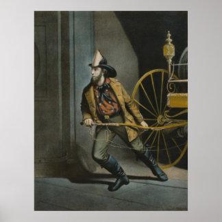 The American Fireman Poster