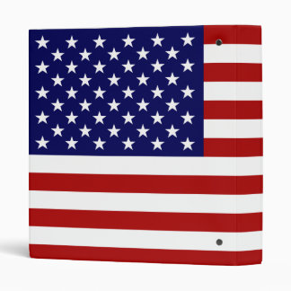 The American Flag 3 Ring Binder