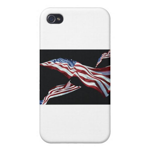 The American Flag - Blown in the Wind iPhone 4 Cover