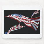 The American Flag - Blown in the Wind Mousepads