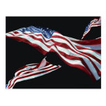 The American Flag - Blown in the Wind Post Cards
