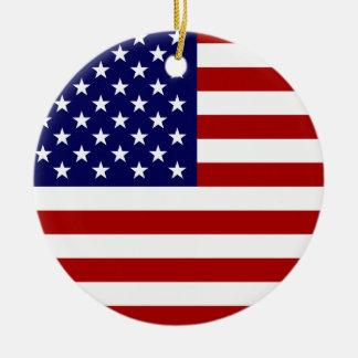 The American Flag Ceramic Ornament