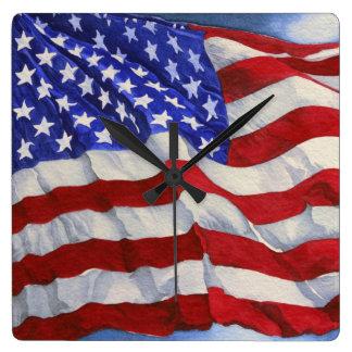 The American Flag - Clock